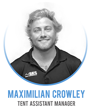 Maximilian Crowley - Tent Area Assistant Manager