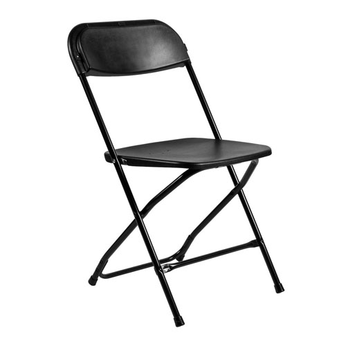 chairs & event furniture : folding chair: black