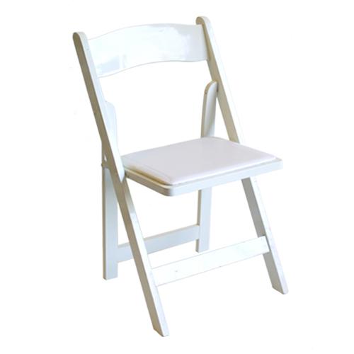 Garden Chair White Resin