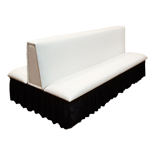 Double Sided Couch With Black Skirting