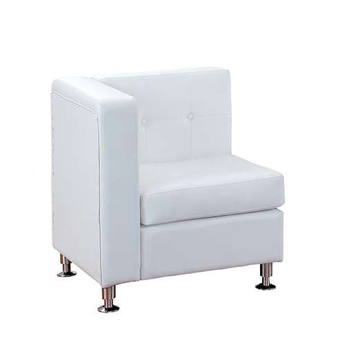 Modular Event Furniture White Corner Chair