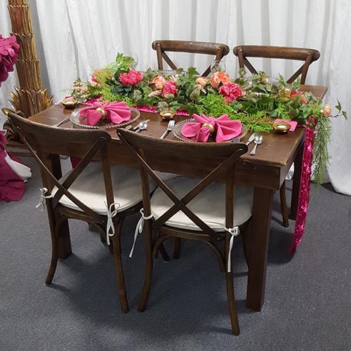 Chairs Cross Back Farm Chair