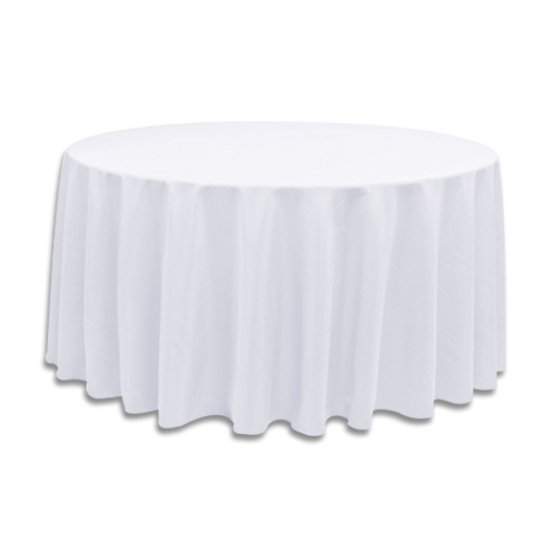 Linens 120 Inch Round Polyester White