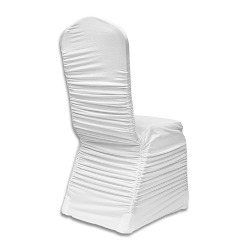 Awe Inspiring Banquet Chair Cover Ruched Spandex White Inzonedesignstudio Interior Chair Design Inzonedesignstudiocom