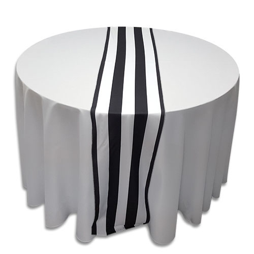 Linens Table Runner Polyester Black