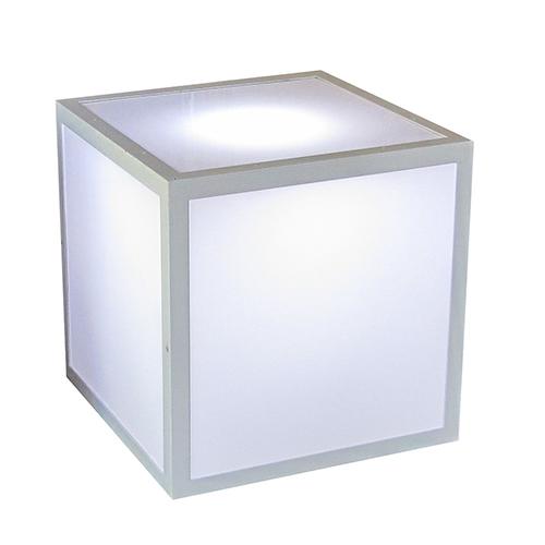 Event Furniture Cube White Plexiglass