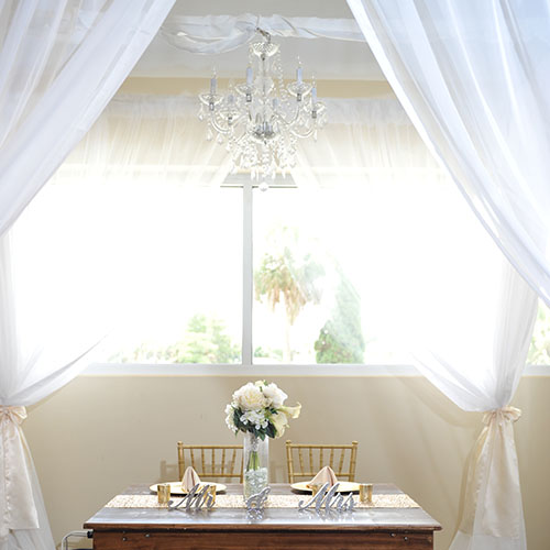 Arches Amp Columns Pipe Amp Drape Chandelier Canopy