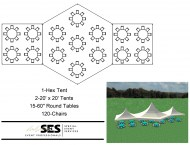 Hex & 20' x 20' Marquee Tents